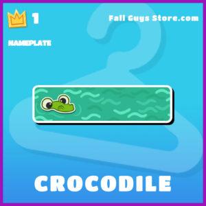 crocodile epic nameplate fall guys item