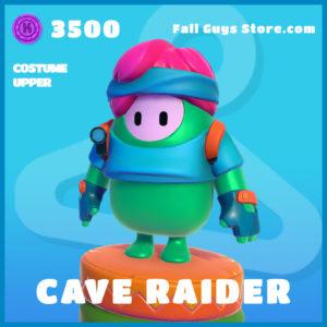 Cave Raider uncommon costume upper fall guys skin