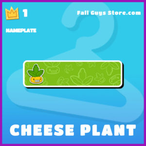 Cheese Plant epic nameplate fall guys item