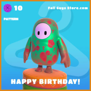 happy birthday! legendary pattern fall guys skin