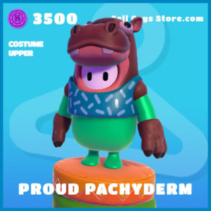 Proud Pachyderm uncommon costume upper fall guys skin