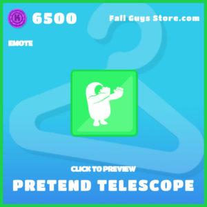 pretend telescope rare emote fall guys item