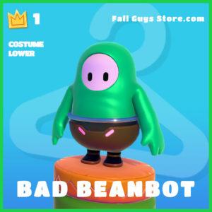 bad beanbot rare costume lower fall guys skin