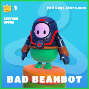bad beanbot rare costume upper fall guys skin