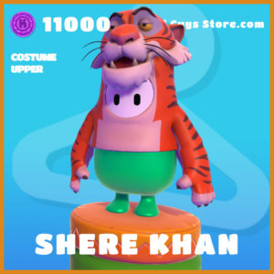 Shere Khan legendary costume upper fall guys skin the jungle book