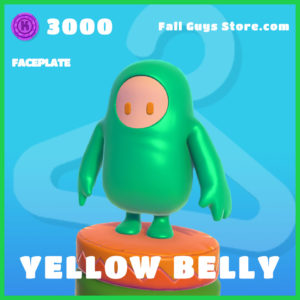 yellow belly rare faceplate fall guys